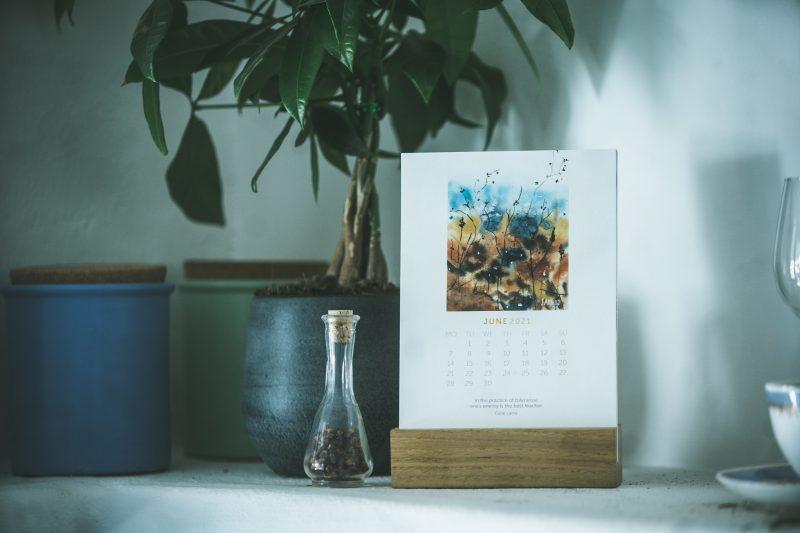 Namizni akvarelni koledar JAmina